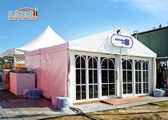 Smaller Outdoor Wedding Tent with White PVC Fabric, Luxury Inner Decoration.