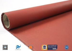 Wholesale coating glass fabrics silicone: 580g Red Silicone Coated Fiberglass Cloth High Temperature Resistant