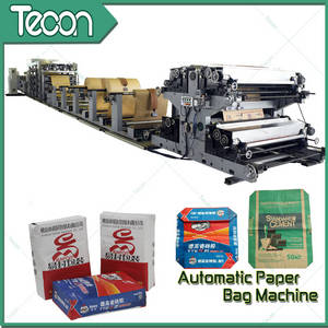 Wholesale pp sheet making machine: High Speed Paper Bag Making Machine with 2 Colors Printing