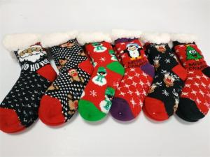 Wholesale warming: Popular Kids Style Huttensocken Christmas Home Socks Sherpa Lined Toasty Warm in Winter