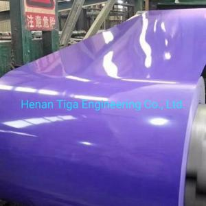 Wholesale coated film: DX51D Wholesale Factory Embossed Prepainted Steel Coil Filmed Color Coated Plate
