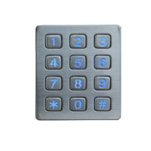 Wholesale fingerprint usb: Waterproof Stainless Steel LED Ticket Vending Machine Keypad