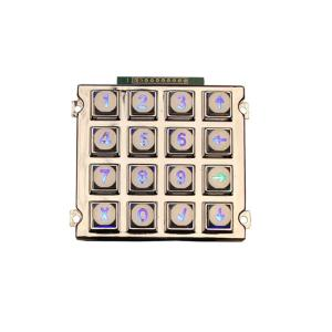 Wholesale keypad: Zinc Alloy Metal Numeric LED Illuminated Keypad Access Control Keypad