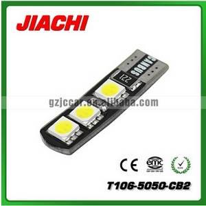 Wholesale led auto lamp: T106-5050-6CB3 12 Volt LED Light Canbus Auto LED Lamp