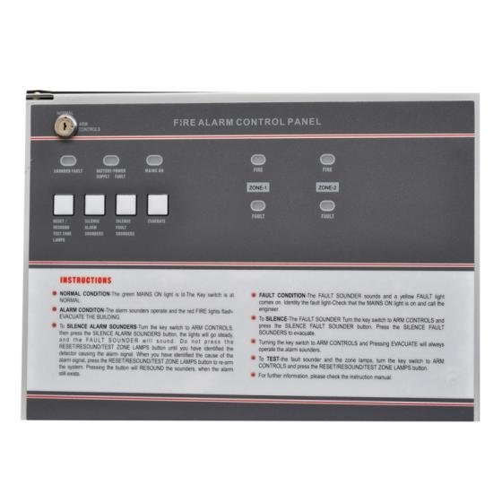 2 Wire Conventional Smoke Detector Connect Fire Alarm Control Panel