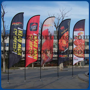 Wholesale Flags, Banners & Accessories: Cheap and High Quality Beach Flags Feather Shape