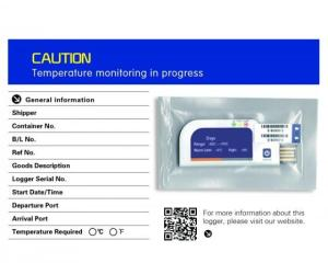 Wholesale precision thermistor: CE Approved Single Use PDF Temperature Data Logger for Cold Chain Use