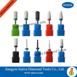 Wholesale nail drill: Sunva-Ceramic Nail Drill Bits Nail Burrs