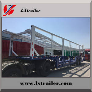 Wholesale tyre coupling: 2 Axles 10pcs Car Carrier Transportl Semi Trailer