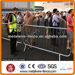 Wholesale euro type fence: Removable/Detached Foot Crowd Control Barrier