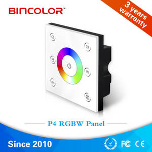 Wholesale touch panel: Touch Panel Rgbw LED Strip Controller, 4 Channels Max 192W/12V 384W/24V Color Changing Rgbw Controll