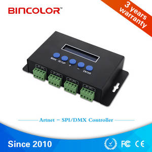 Wholesale ic: Madrix Computer Control Artnet To SPI Rgb LED Controller 6803 WS2812 Ws2812b IC Chips Pixel Light Co