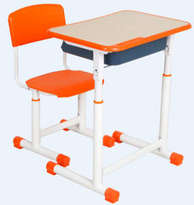 Wholesale metal chair: Good Looking Single Plastic Chair with Metal Frame Desk