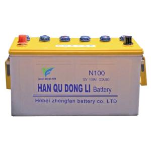 Wholesale charging car: N100 Lead Acid Battery Dry Charged Car Battery JIS Standard Bus Battery Automotive Car Battery