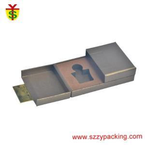 Wholesale metal perfume: Custom Metal Logo Two Perfume Paperboard Gift Boxes with Fold Cover Design UV Printing