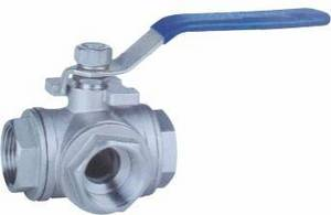 Wholesale Valves: Sell T/L Pattern Three Way Stainless Steel Ball Valve