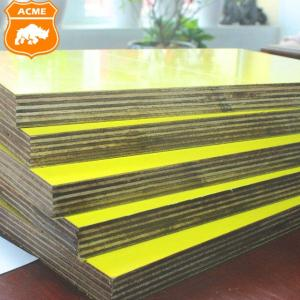 Wholesale construction plywood: Yellow Plastic Film Faced Plywood for Construction