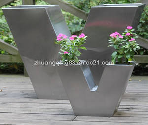 Wholesale Metal Vases: stainless steel fower tub
