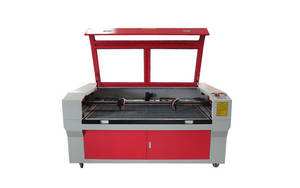 Wholesale co2 laser cutter: Two Head CO2 Laser Cutter Machine with 100w RECI Tube