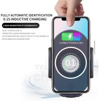 2019 Factory Price Wireless Fast Charger Car Stand Quick Charging Pad for Qi Smartphone 2