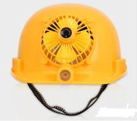 Solar Panel Power Bank Air Conditioner Fan Outdoor Hard Hat Construction Worker Safety Helmet 2