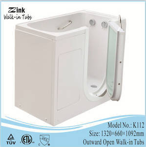 Wholesale walk in tub: 2016 Zink One Seat Outward Open Handicap Walk in Tub Shower Combo