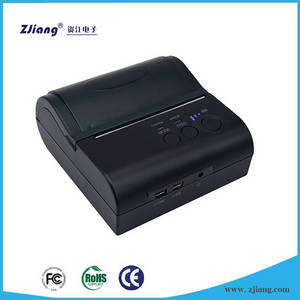 Wholesale bluetooth mobile pos printer: Mobile Recharge Machine Receipt Thermal Printer Bluetooth with 4VDC 2000mAh Battery ZJ-8001LD