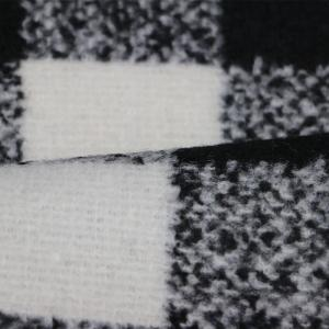 Wholesale grey fabric: 100%polyester Black and White and Grey Gingham Woven Fabric
