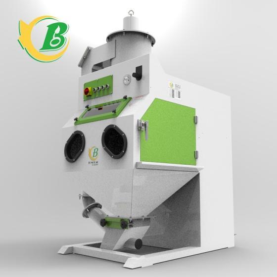 Box-type Manual Dry Sandblasting Machine Capable of Automatically Separating Abrasive Reuse
