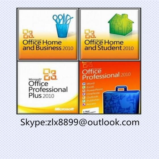 Office 2010 Home Business Office 2010 Pro  Office 2010 Hb PC  Key Card Retail Sealed Package
