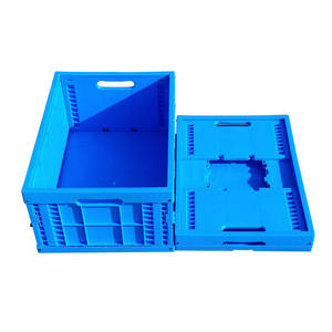 Wholesale Crates: 600*400*240mm Plastic Material Folding Crates for Transport Use