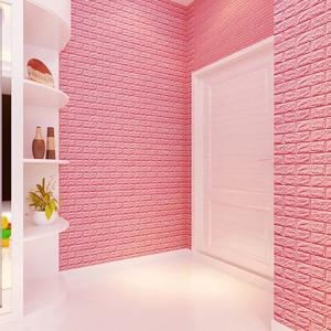 Wholesale wallpaper sticker: Mould-proof Wall Sticker 3D Brick Wall Decoration Panel for Administration