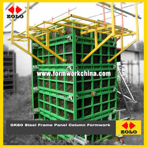 Wholesale steel formwork: Zolo GK60 Steel Frame Panel Column Formwork