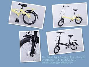 Wholesale electric folding bicycle: Super Light Electric Folding Bicycle Ebikes