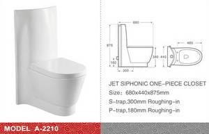 Wholesale one piece toilet: Modern Design One Piece Toilet