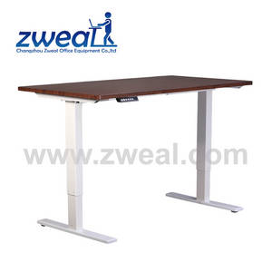 Wholesale office computer table: Cheap Ergonomic Electric Office Workstation Adjustable Desk Computer Standing Table