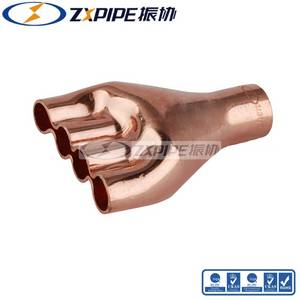Wholesale connection: Copper Fittings Refrigerant Fittings Red Distribute Connection