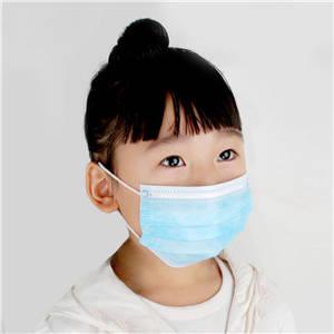 Wholesale disposable non-woven: Disposable Three-layer Non-woven Face Mask in Blue