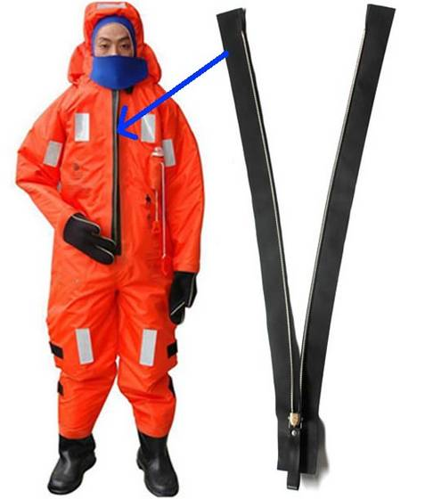 Sell airtight rescue suit zipper, immersion suit zipper