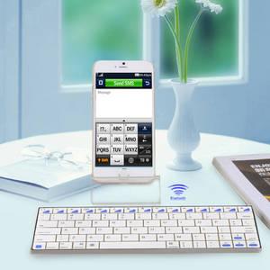 Wholesale key usb: Mini USB Rechargeable Handheld Bluetooth V3.0 80-Key Wireless Keyboard - White
